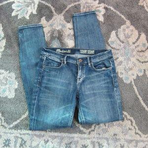 "Madwell Medium Wash Skinny Jeans 27"""